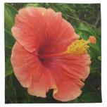 Orange Hibiscus Flower Cloth Napkin