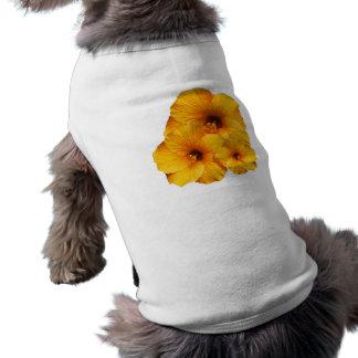 Orange Hibiscus Flower Pet Clothing