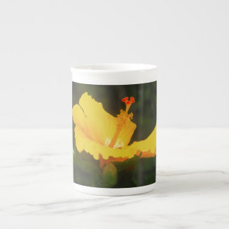 Orange Hibiscus Flower Tea Cup