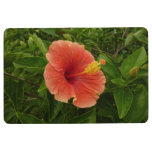 Orange Hibiscus Flower Tropical Floral Floor Mat