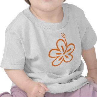 Orange hibiscus flower t-shirts