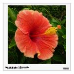 Orange Hibiscus Flower Wall Sticker