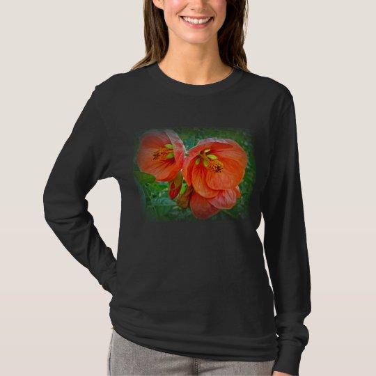 Orange Hibiscus Flowers T-Shirt