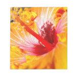 Orange Hibiscus Notepad