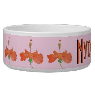 """""""orange hibiscus"""" PET BOWL"""