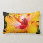 Orange Hibiscus Pillow