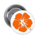 Orange Hibiscus Pinback Button