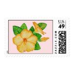 Orange hibiscus postage
