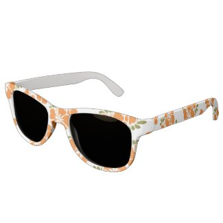 Orange Hibiscus Sunglasses