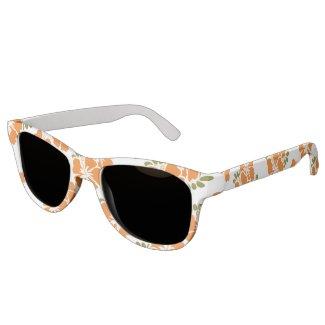 Orange Hibiscus Sunglasses