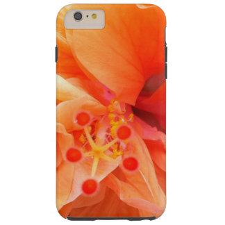 Orange Hibiscus Tough iPhone 6 Plus Case
