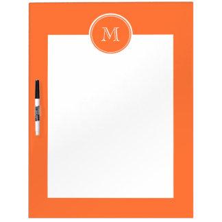 Orange High End Colored Monogrammed Dry-Erase Board