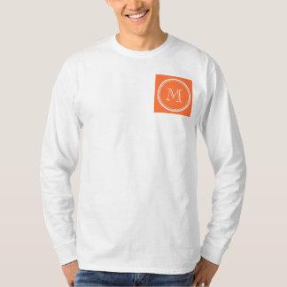 Orange High End Colored Monogrammed T-Shirt