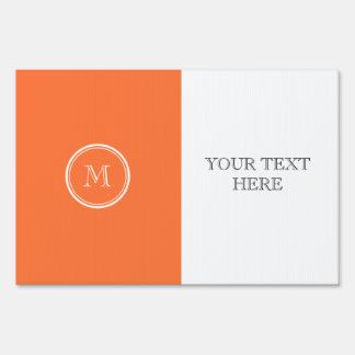 Orange High End Colored Monogrammed Signs