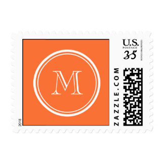 Orange High End Colored MonogrammedAdd your monogr Postage