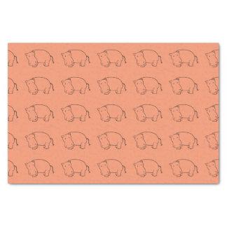 orange hippo tissue paper