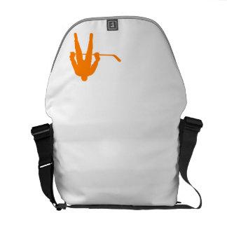 Orange Hockey Messenger Bag
