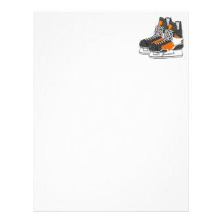 Orange Hockey Skates Letterhead