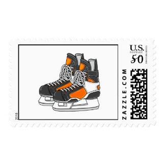 Orange Hockey Skates Postage