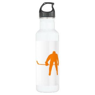 Orange Hockey Water Bottle