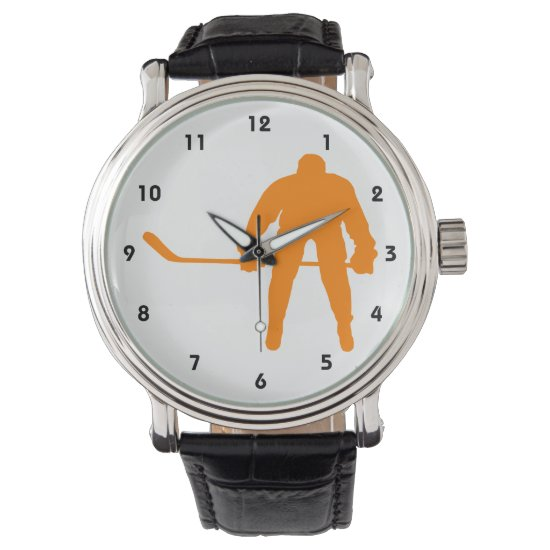Orange Hockey Wristwatch
