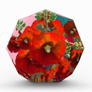 Orange Hollyhock Garden Gifts Acrylic Award
