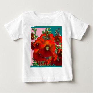 Orange Hollyhock Garden Gifts Baby T-Shirt