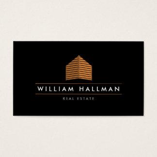 Orange Home Logo Builder Real Estate Business Card