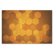 Orange honeycomb hexagon pattern tissue paper