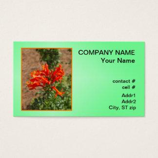 Orange honeysuckle business card