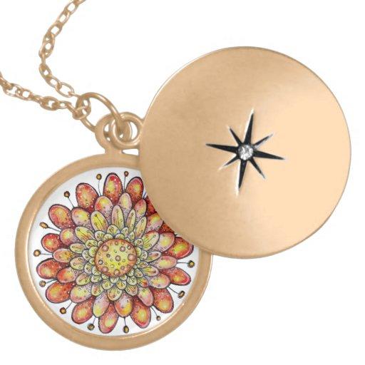 Orange Hoopla Flower Jewelry