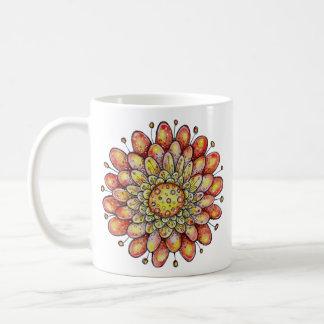 Orange Hoopla Flower Mug