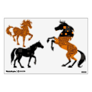 Orange horse Mr. Ed Black Beauty wild west rodeo Wall Decal