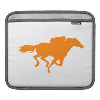 Orange Horse Racing iPad Sleeve