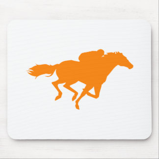 Orange Horse Racing Mouse Pad