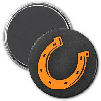 Orange Horseshoe Fridge Magnet