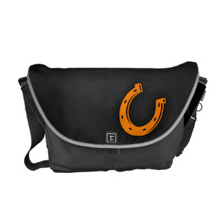 Orange Horseshoe Messenger Bag
