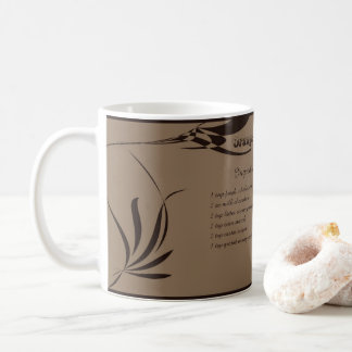Orange hot chocolate coffee mug