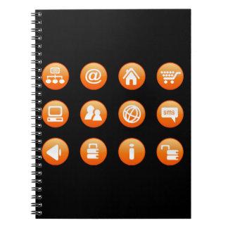 Orange Hot Keys Note Book