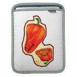 Orange hot peppers one cut in half graphic iPad sleeves