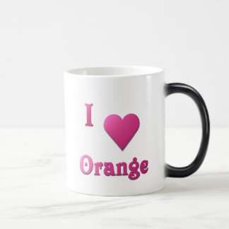 Orange -- Hot Pink Magic Mug