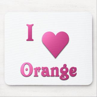 Orange -- Hot Pink Mouse Pad