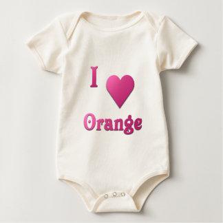 Orange -- Hot Pink Romper