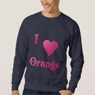 Orange -- Hot Pink Sweatshirt