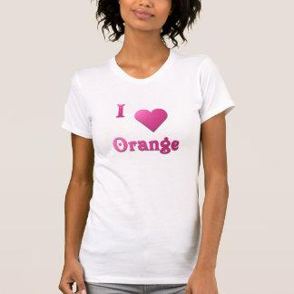 Orange -- Hot Pink T Shirt