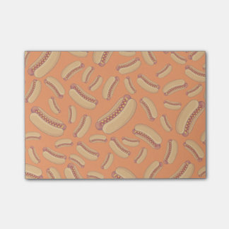 Orange hotdogs post-it® notes