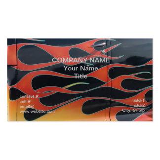 orange hotrod flames on black Double-Sided standard business cards (Pack of 100)