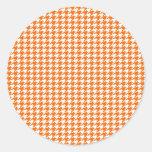 Orange Houndstooth Stickers