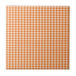 Orange Houndstooth Tiles