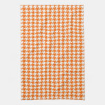 Orange Houndstooth Towels